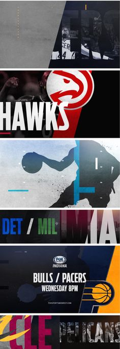 motion graphics/ storyboards/ styleframes   NBA on Fox Network   #nba