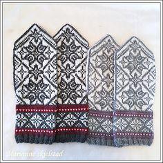 Ravelry: Stjerneglimt pattern by Marianne Skjelstad Knitted Mittens Pattern, Knit Mittens, Mitten Gloves, Knitting Socks, Hand Knitting, Knitting Patterns, Gauntlet Gloves, Fair Isle Knitting, Alpacas
