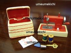 Re-ment dollhouse miniature French sewing machine 2005