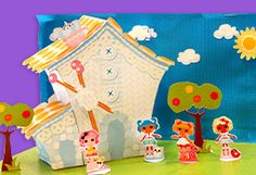 Lalaloopsy Mitten's puppet theater. {free} printable!