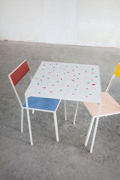 table S, 2013 + first chair, 2012   Muller Van Severen