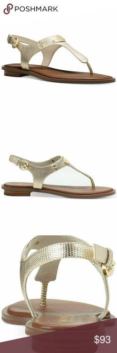 6a6b98e890d MICHAEL Michael Kors Plate Thong Sandal Pale Gold Brand  MICHAEL Michael  Kors Model  Plate