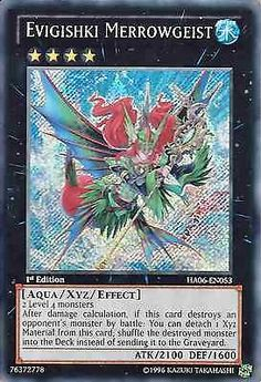 Original KONAMI Yu-Gi-Oh! Trading Card Evigishki Merrowgeist (Evigishki-Meergeist) Kartennummer: HA06-DE053 Deck: Hidden Arsenal 6 Häufigkeit: Secret Rare Kartentyp: Xyz-Monsterkarte Typ: Aqua / Xyz / Effekt ATK/DEF: 2100/1600 GBA: 76372778 | Günstig bei eBay kaufen!