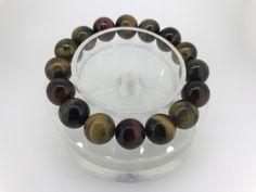 110 Crt Natural Tiger eye beads bracelet  NATURAL TIGER EYE GEMSTONE BRACELET   FROM GEMROCKAUCTIONS.COM