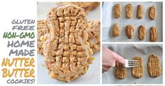 Do you love peanut butter? Try these yummy vegan, gluten free homemade Nutter Butter cookies, the kids will love them too!