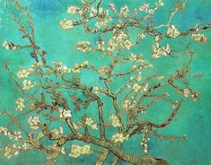 the art of Vincent Van Gough is so cheerful and enlightening. I love this one of cherry blossoms, it's simple but really unique at the same time! :)