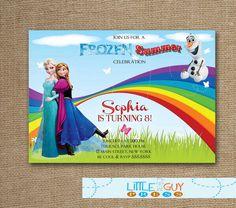 Frozen Birthday Party Invitations Frozen Summer by littleguypress, $15.00