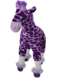purple stuffed animal giraffe