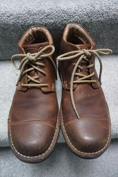 f4a900ec5f98 Beautiful pair of KEEN Dark Brown Leather Lace Up Cap Toe Ankle Boots Men s  13.