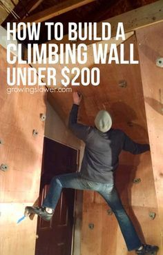You'll have fun with the whole family when you build a home climbing wall! Whether you incorporate it into your home decor as your next amazing kids bedroom idea, build it in the garage to boost fitness for an indoor workout, or put it in the backyard, this free standing rock climbing wall DIY tutorial will make the process easy. Includes cost-conscious project budget and material list. Rock Climbing For Kids, Climbing Wall For Kids, Rock Climbing Walls, Rock Climbing Workout, Rock Climbing Training, Indoor Climbing Wall, Sport Climbing, Lead Climbing, How To Rock Climb