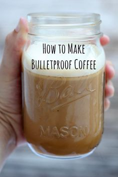 to make Bulletproof Coffee Bulletproof coffee gives you an amazing energy boost that will keep your mind focused and clear!Bulletproof coffee gives you an amazing energy boost that will keep your mind focused and clear! Healthy Recipes, Low Carb Recipes, Cooking Recipes, Yummy Drinks, Healthy Drinks, Yummy Food, Milk Shakes, Smoothies, Café Chocolate