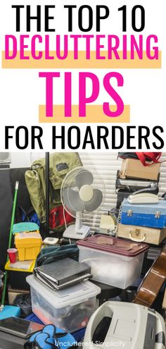 Hoarders face unique challenges when trying to declutter. That's because traditional decluttering methods aren't designed for hoarders! Here are 10 decluttering tips for hoarders (and packrats) that actually work! Organizing Hacks, Clutter Organization, Home Organization Hacks, Organizing Your Home, Cleaning Hacks, Decluttering Ideas, Organization Station, Household Organization, Desktop Organization