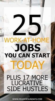 Make money fast with these ideas for earning a side income at home and online. Easy ways to make extra money for SAH moms and college students. Tips for making money with Etsy, writing, online and working from home. Learn about flexible jobs that pay immediately. If you want to make money from home, these 75 jobs will give you great ideas and options. If you are looking for the perfect side hustle, you need to check out this list, there are tons of free courses that can help to make money.