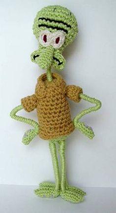 The whole Spongebob crew: Gary, Sandy, Plankton, etc... - CROCHET