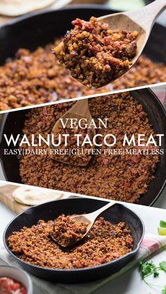 Vegan Meat Recipe, Vegan Dinner Recipes, Whole Food Recipes, Vegetarian Recipes, Cooking Recipes, Healthy Recipes, Vegetarian Tacos, Coconut Meat Recipes, Tvp Recipes