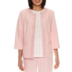 6b0d431809f93 Alfred Dunner Rose Hill Suit Laser-Cut Jacket - JCPenney