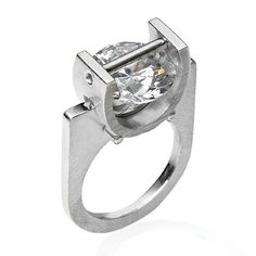 Basket Set Cubic Zirconia and Sterling Silver Ring (#R033002)