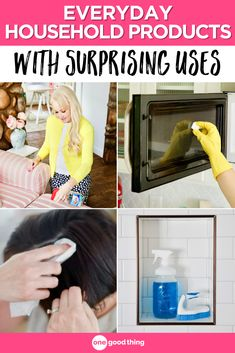 You probably already have most of these products around the house, so check out these tips that will help you make the very most of them! Household Cleaning Tips, Household Items, Cleaning Hacks, Household Products, Fun To Be One, Have Fun, Crochet Edging Tutorial, Hack My Life, Housekeeping Tips