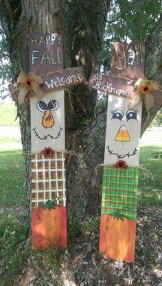 Diy Fall Crafts fall diy crafts to sell Fall Wood Crafts, Halloween Wood Crafts, Pallet Crafts, Thanksgiving Crafts, Holiday Crafts, Christmas Crafts, Diy Crafts, Outdoor Halloween, Christmas Decorations