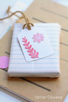 April / Hint of Sunshine Make a cute and easy tag with the floral stamp set for spring birthdays or Easter gifts!