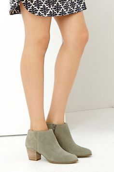Neutral ankle booties -- a wardrobe essential