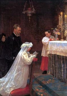 Pablo Picasso. First Communion. 1895-96. Oil on canvas.