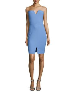 TAQ57 Elizabeth and James Naveen Strapless Notched Dress