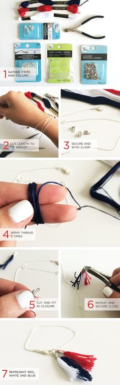 DIY Tassel Bracelet