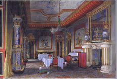 James Roberts: Chambre chinoise ( Chinese Room ) à Buckingham Palace.