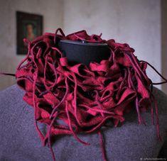 """Купить Валяный шарф-снуд """" Рябиновые бусы"""" в интернет магазине на Ярмарке Мастеров"""