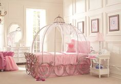 picture of Disney Princess 6 Pc Twin Carriage Bedroom from Disney Princess Furniture