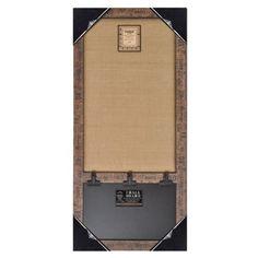 """Wood Framed Wall Burlap Board & Chalk Bulletin Board 14""""x30.75"""" (Brown Ruler), http://www.amazon.com/dp/B00J2DRR6Q/ref=cm_sw_r_pi_awdm_s9Dfub0Y2W42X"""