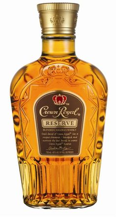 Crown Royal Reserve: Crown Royal calls their Reserve blend a gift to whisky enthusiasts with a creamy, rich, reserve-grade blend, flush with sharp clove, cinnamon and top-points of rye. Alcohol Bottles, Liquor Bottles, Scotch Whiskey, Bourbon Whiskey, Tennessee Whiskey, Whiskey Drinks, Irish Whiskey, Crown Royal, Fun Drinks
