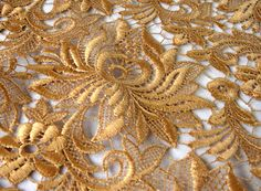 Gold Lace Fabric, Lace Art, Pastel, Textiles, Embroidery, Inspiration, Beautiful, Vintage, Lace