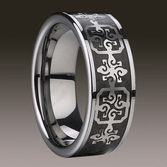 ★RRP £119 Mens omens Tungsten Cermaic Ring Band Wedding Engagement Silver 17 | eBay