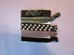 Five Embellished Ponytail Holders by Glitteredtoo on Etsy.  Visit my site at www.glitteredtoo.etsy.com