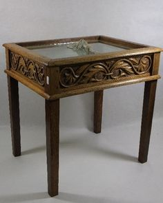Arriving this week - Arts & Crafts golden oak small bijouterie table measuring 49cm wide 49cm tall