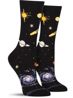 You don't need a telescope to view these planets. Shoot for the stars while staying grounded with these unique celestial socks from Wheel House. With everything from the sun to the moon, don't let the