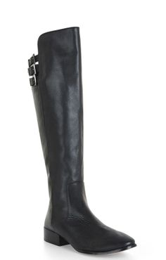On the hunt for: over-the-knee black leather chunky heeled boots