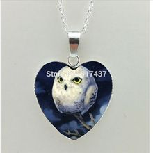 US $1.03 2017 New Antique Owl Heart Necklace Owl Pendant Bird Heart Jewelry Glass Dome Pendant Necklace. Aliexpress product