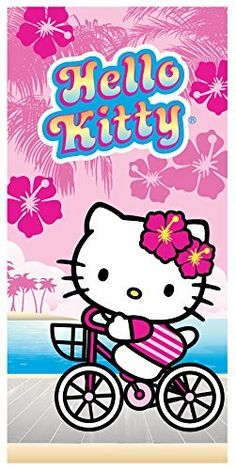 Hello Kitty On The Boardwalk Beach Towel