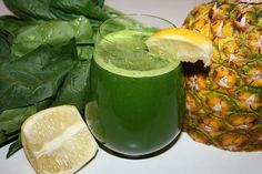 ease into green juice with lean green pineapple juice recipe.1 large bunch of spinach (about 340g) ¼ of a pineapple or 2 cups of fresh or frozen pineapple 1 lemon, peeled