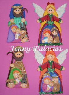 Pesebres tomados de la web :: RT Decoraciones y algo más... Christmas Nativity, Christmas Art, Xmas, Christmas Ornaments, Angel Crafts, Wooden Ornaments, Holy Night, Diy And Crafts, Projects To Try