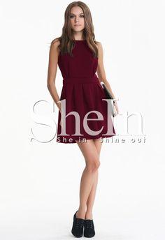 robe avec plissé dos dénudé sans manche