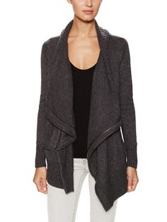 Cashmere Blend Cowlneck Zipper Cardigan from Wythe NY Cashmere on Gilt