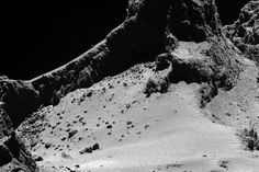 Rosetta spacecraft finds evidence for building blocks of life on comet.  (ESA/Rosetta/MPS for OSIRIS Team MPS/UPD/LAM/IAA/SSO/INTA/UPM/DASP/IDA)