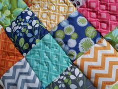 Simple patchwork quilt - sample for a course we are running