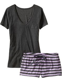 Women's Tee & Shorts Sleep Sets Product Image