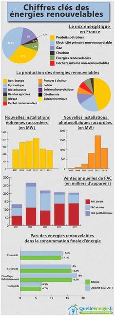 [Infographie] Les chiffres clés des énergies renouvelables. Y en México como estamos y qué hacemos ?
