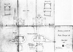 Gaudi's original map Vicky Cristina Barcelona, Parc Guell, Antoni Gaudi, Floor Plans, Diagram, Maps, Spanish, Parks, Entryway